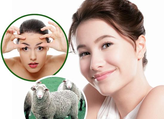 Da đẹp lên trông thấy sau khi sử dụng tinh chất nhau thai cừu
